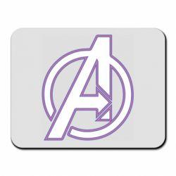Коврик для мыши Avengers and simple logo
