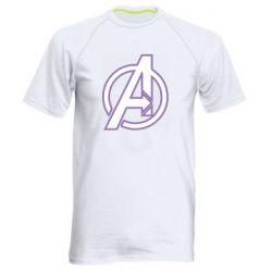 Мужская спортивная футболка Avengers and simple logo