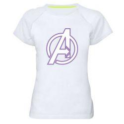 Женская спортивная футболка Avengers and simple logo