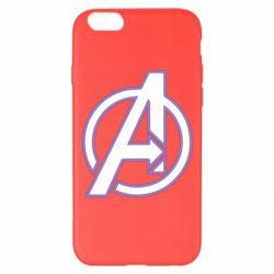 Чехол для iPhone 6 Plus/6S Plus Avengers and simple logo