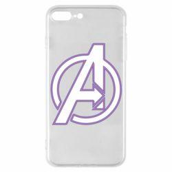 Чехол для iPhone 7 Plus Avengers and simple logo