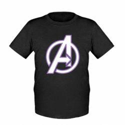 Детская футболка Avengers and simple logo