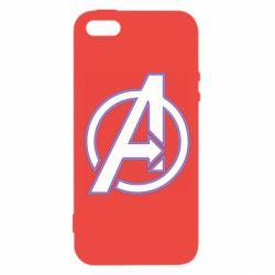 Чехол для iPhone5/5S/SE Avengers and simple logo