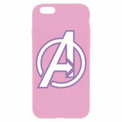 Чехол для iPhone 6/6S Avengers and simple logo