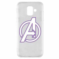 Чехол для Samsung A6 2018 Avengers and simple logo
