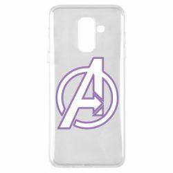 Чехол для Samsung A6+ 2018 Avengers and simple logo