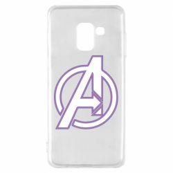Чехол для Samsung A8 2018 Avengers and simple logo