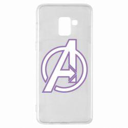 Чехол для Samsung A8+ 2018 Avengers and simple logo