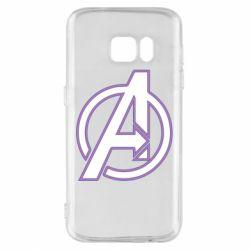 Чехол для Samsung S7 Avengers and simple logo