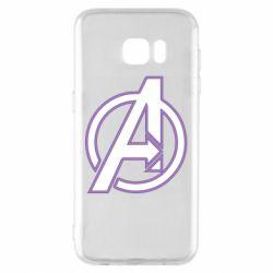 Чехол для Samsung S7 EDGE Avengers and simple logo