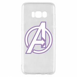 Чехол для Samsung S8 Avengers and simple logo