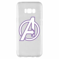 Чехол для Samsung S8+ Avengers and simple logo