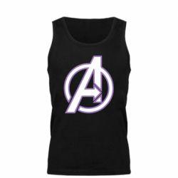 Мужская майка Avengers and simple logo