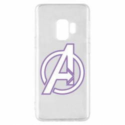 Чехол для Samsung S9 Avengers and simple logo