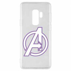 Чехол для Samsung S9+ Avengers and simple logo