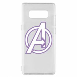 Чехол для Samsung Note 8 Avengers and simple logo