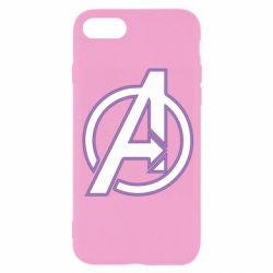 Чехол для iPhone 8 Avengers and simple logo