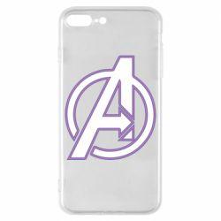 Чехол для iPhone 8 Plus Avengers and simple logo