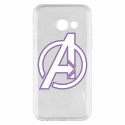 Чехол для Samsung A3 2017 Avengers and simple logo