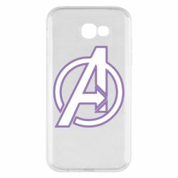 Чехол для Samsung A7 2017 Avengers and simple logo
