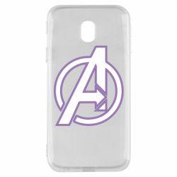 Чехол для Samsung J3 2017 Avengers and simple logo