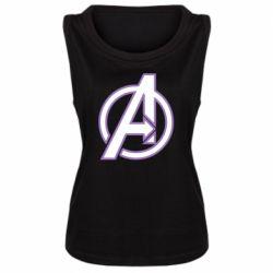 Женская майка Avengers and simple logo