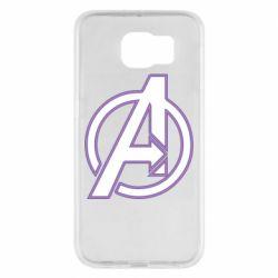 Чехол для Samsung S6 Avengers and simple logo