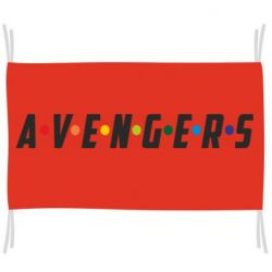 Флаг Avengers in the style of the logo of friends