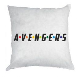 Подушка Avengers in the style of the logo of friends