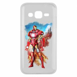 Чохол для Samsung J2 2015 Avengers iron man drawing