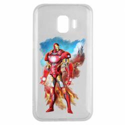 Чохол для Samsung J2 2018 Avengers iron man drawing