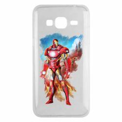 Чохол для Samsung J3 2016 Avengers iron man drawing