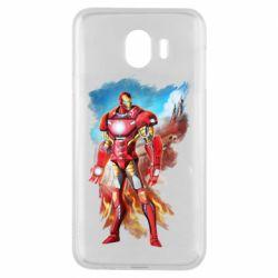 Чохол для Samsung J4 Avengers iron man drawing