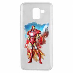 Чохол для Samsung J6 Avengers iron man drawing