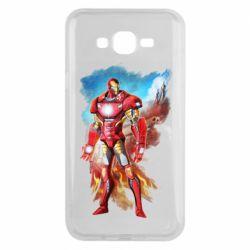 Чохол для Samsung J7 2015 Avengers iron man drawing