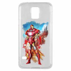 Чохол для Samsung S5 Avengers iron man drawing