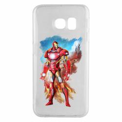 Чохол для Samsung S6 EDGE Avengers iron man drawing