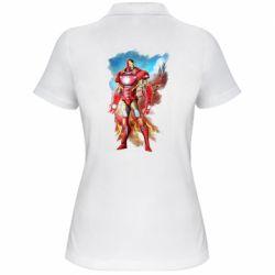 Жіноча футболка поло Avengers iron man drawing
