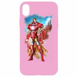 Чохол для iPhone XR Avengers iron man drawing