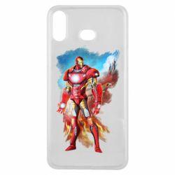 Чохол для Samsung A6s Avengers iron man drawing