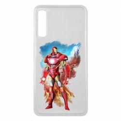 Чохол для Samsung A7 2018 Avengers iron man drawing