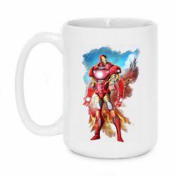 Кружка 420ml Avengers iron man drawing