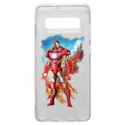 Чохол для Samsung S10+ Avengers iron man drawing