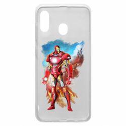 Чохол для Samsung A20 Avengers iron man drawing
