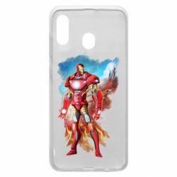 Чохол для Samsung A30 Avengers iron man drawing