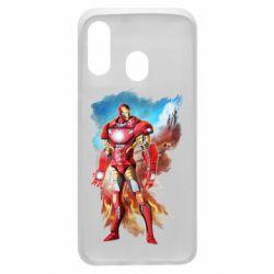 Чохол для Samsung A40 Avengers iron man drawing