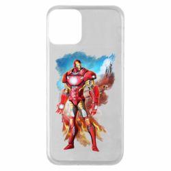 Чохол для iPhone 11 Avengers iron man drawing