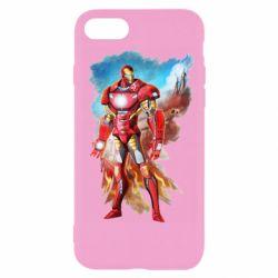 Чохол для iPhone 7 Avengers iron man drawing