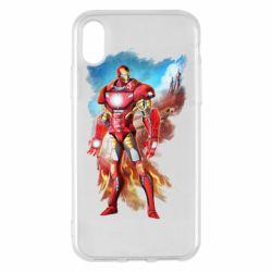 Чохол для iPhone X/Xs Avengers iron man drawing