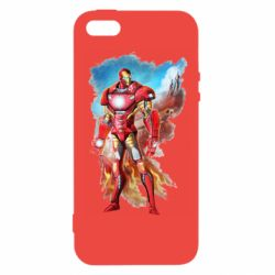 Чохол для iphone 5/5S/SE Avengers iron man drawing